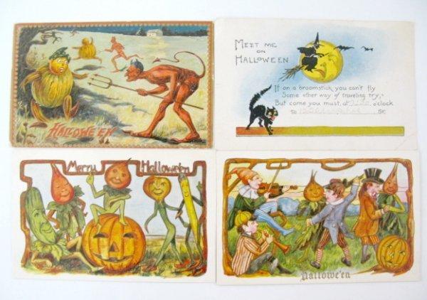 382: 13 Vintage Halloween Postcards - 2