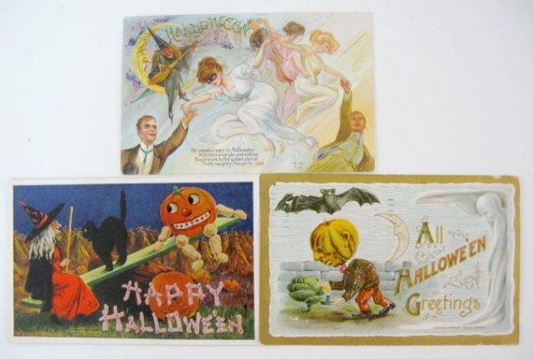 382: 13 Vintage Halloween Postcards - 3