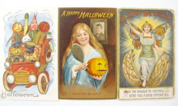 382: 13 Vintage Halloween Postcards - 4