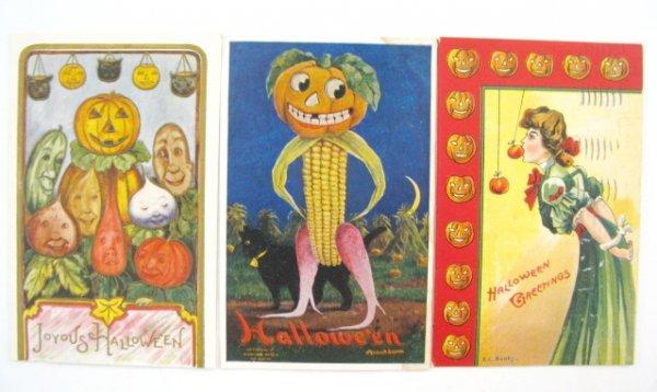 382: 13 Vintage Halloween Postcards - 5