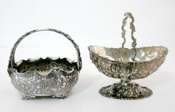 3: 2 Silverplated Baskets: Simpson H.M. & Japan