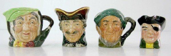 4: 3 Royal Doulton Character Jugs & 1 Pirate