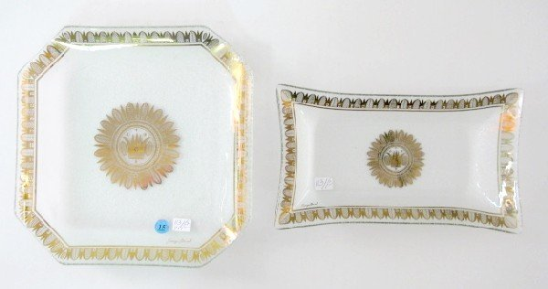 15: 2 Georges Briard Glass Dishes