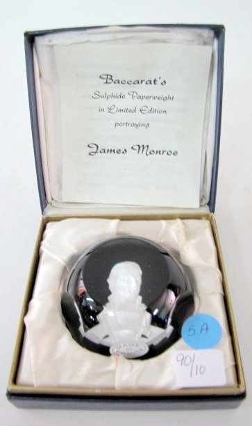 5A: Baccarat James Monroe Sulphide Paperweight