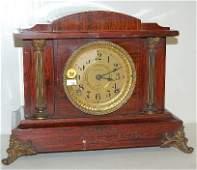 88: Seth Thomas Adamantine Mantle Clock w/Columns