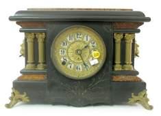 218 Seth Thomas Ebonized Mantle Clock