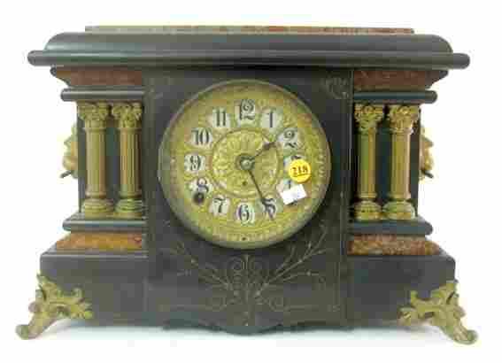 Seth Thomas Ebonized Mantle Clock
