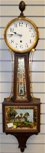Waterbury Weight Driven Banjo Clock