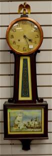 New Haven Banjo Clock with Ships