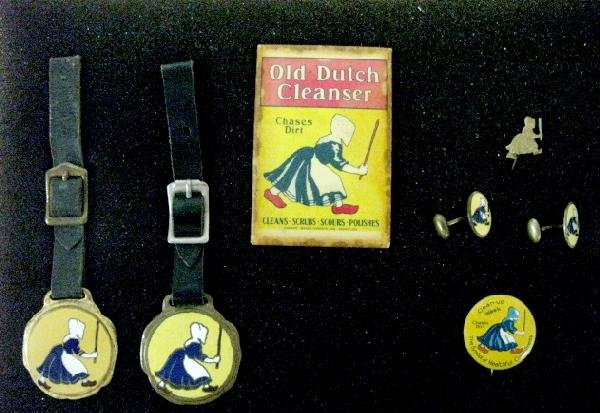 7: 6 Old Dutch Cleanser Advertising Items in Case - 2