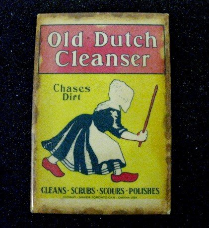 7: 6 Old Dutch Cleanser Advertising Items in Case - 4