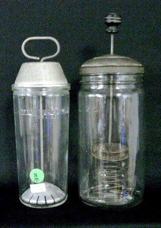 8: 2 Glass & Metal Mixing Jars