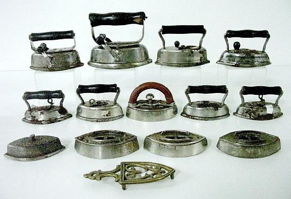 12: Group of 13 Vintage Children's Sad Irons