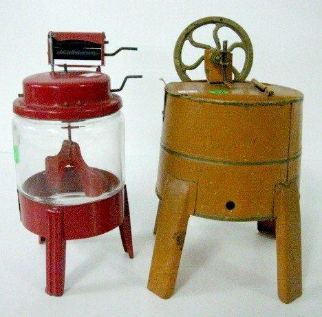 23: 2 Toy Tin Washing Machines