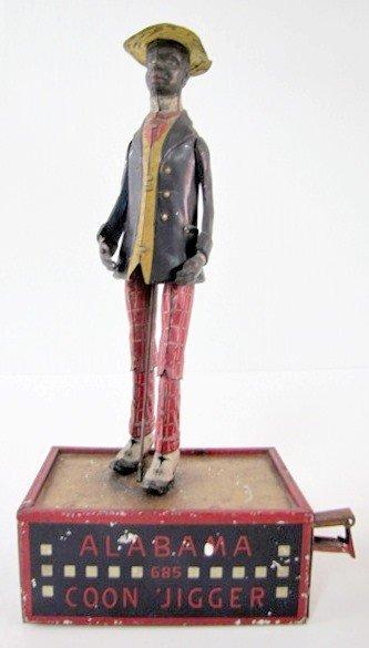 170: Tin Litho Lehmann Alabama Coon Jigger Toy