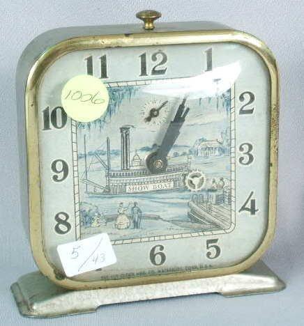 1006: Lux Showboat PaddleWheel Animated Clock