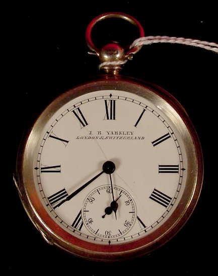 1007: Yabsley London & Switzerland O.F. Sterling Case