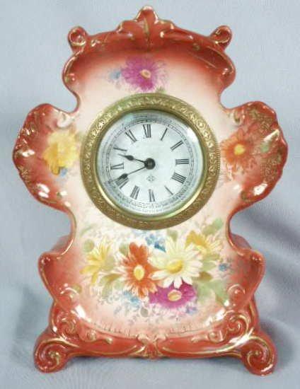 "1011: Ansonia ""Anchor"" Mini China Clock NR"