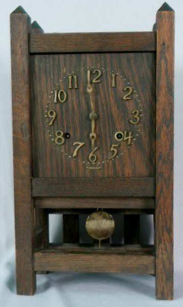 1012: Sessions Mission Oak Table Clock NR