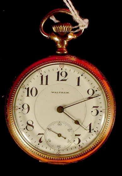 1018: Waltham Vanguard 19j O.F. 12087242 Pocket Watch