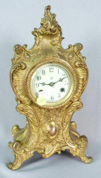 1023: Waterbury Metal Case Clock Pat. 1901 NR