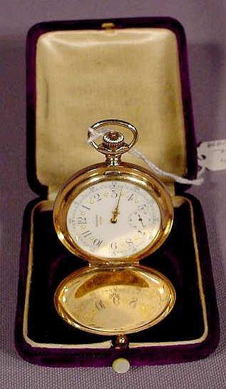 1024: Elgin Tri-Color Gold H.C. 15j Pocket Watch NR