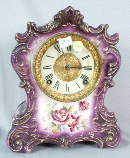1031: Ansonia Tuscola China Clock T&S NR