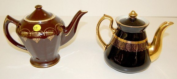 10: 2 Hall Teapots: #0227 & #070XS