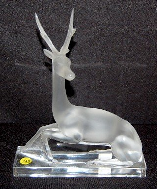 249: Lalique France Stag Figurine