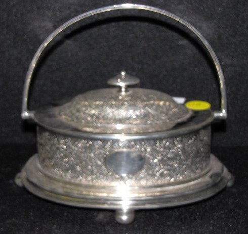17A: Hallmarked Oval Silverplate Serving Dish