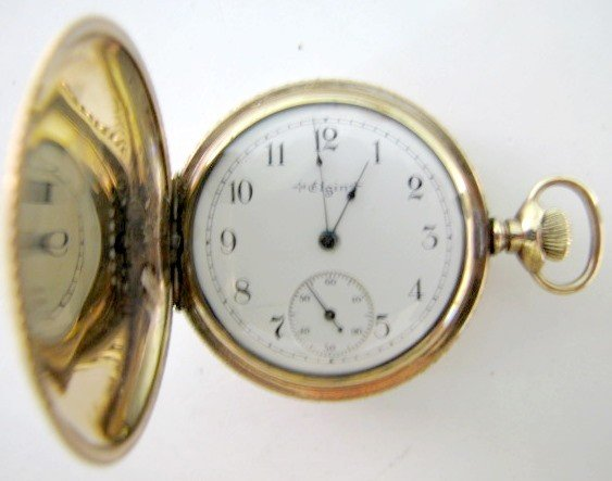4: Elgin Ladies 0S SW HC Pocket Watch