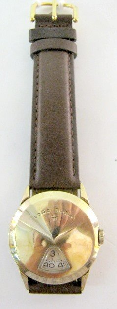 9: Lord Elgin Chevron 21J 14K GF Wrist Watch