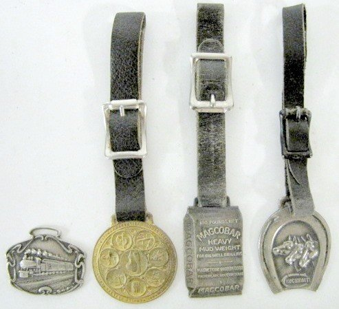17: Group of 4 Vintage Advertising Watch Fobs