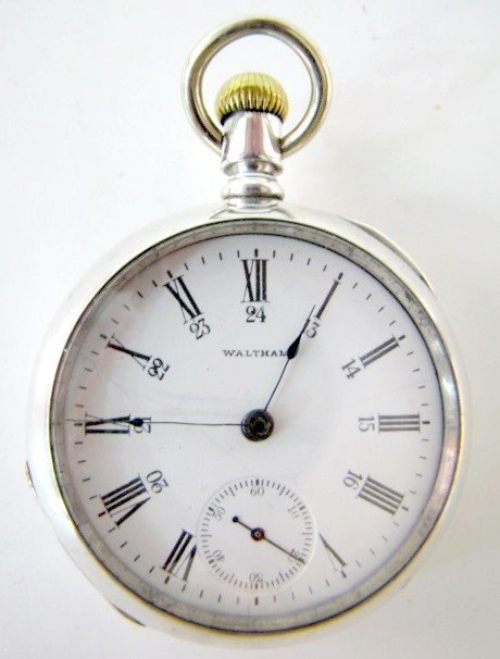 20: Am. Waltham 7J 18S OF SW Coin Pocket Watch