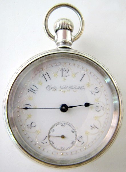 22: Elgin Nat'l 15J 18S OF SW DMK Pocket Watch