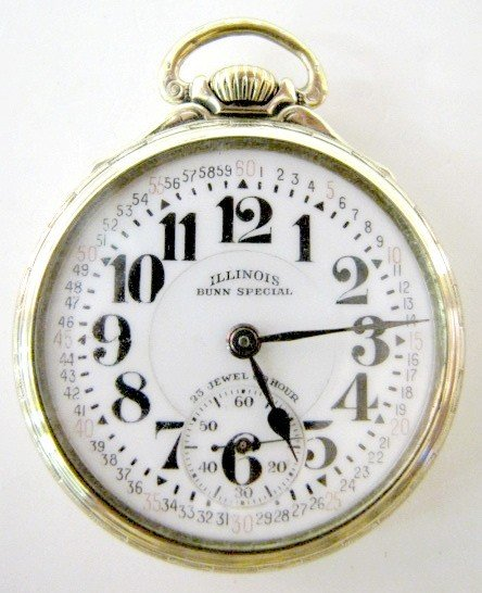 148: Ill. 60hr Bunn Special 23J 16S OF Pocket Watch
