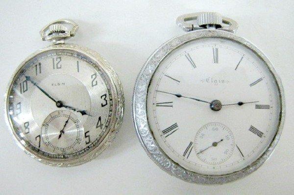 200: 2 Elgin 17J OF Pocket Watches