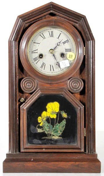 10: Welch Rosewood Empress Mantle Clock