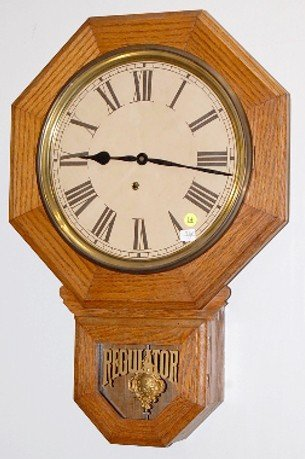 "14: Ingraham 12"" Drop Octagon Wall Clock"