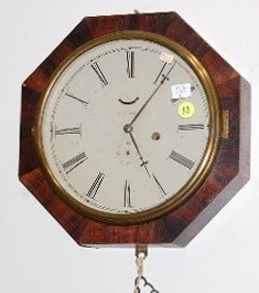 15: Chauncey Jerome Octagon Wall Clock