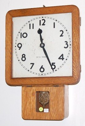 17: Oak Seth Thomas Army Wall Clock