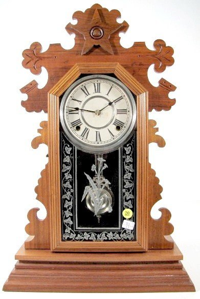 20: Ansonia Walnut 8 Day Mantle Clock