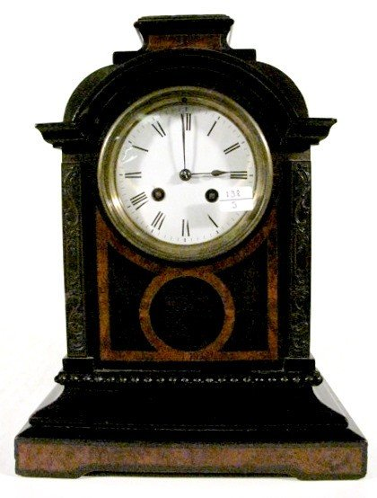 24:Japy Freres Inlaid T & S Mantle Clock