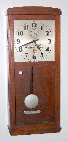 77: Self Winding Clock Co. Western Union Wall Clock