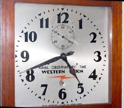 77: Self Winding Clock Co. Western Union Wall Clock - 2