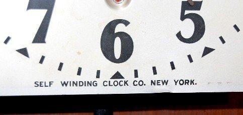 77: Self Winding Clock Co. Western Union Wall Clock - 3