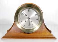 269: Chelsea Ships Bell Clock, Brass & Wood