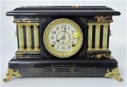 319: Seth Thomas Adamantine 6 Column Mantle Clock
