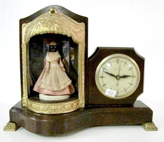 1: United Electric Animated Musical Mammy Clock