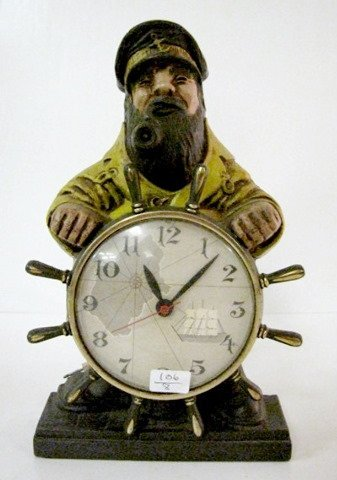 2: Mastercrafters Sea Captain Mod. 722 Plastic Clock